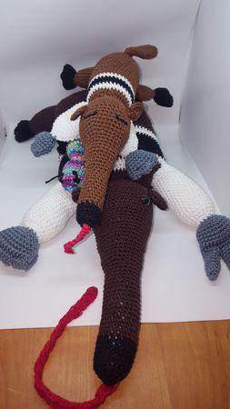 Ameisenbär Mama Lara Mit Baby Anna