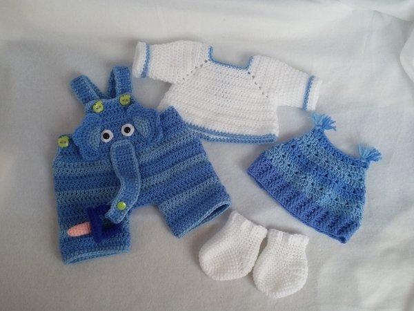 Puppenkleidung häkeln / Kleidung Baby-Puppe