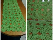 Table runner crochet pattern PDF english-deutsch-dutch ternura amigurumi