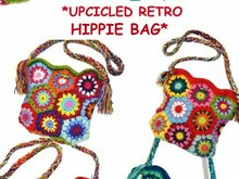 crochet Pattern *UpcYcleD RetrO HiPPie BAG* US-english bagpattern