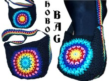 crochet Pattern *HoBo BaG RainBoW MaNdalA* us-english bagpattern
