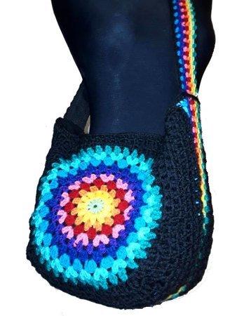 Crochet Pattern Hobo Bag Rainbow Mandala Us English Bagpattern