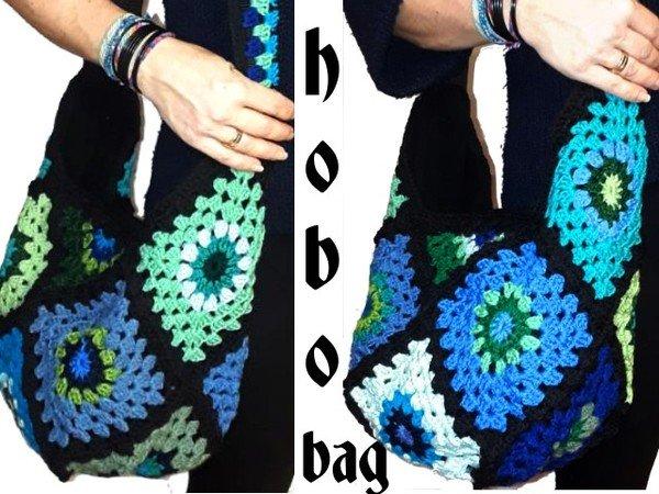 Crochet Pattern Hobo Bag Granny Square Us English Bagpattern
