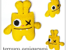 crochet pattern monster PDF english-deutsch-dutch ternura amigurumi