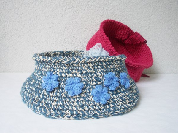crochet pattern basket 2 and more sizes, decoration