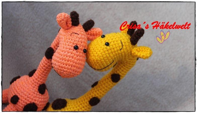 Häkelanleitung Rassel Giraffe Ellie