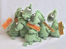 007 Crochet Pattern - Dragon Draco - Amigurumi PDF file by Pertseva CP