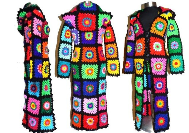 crochet paTTern *3 in 1*  Bolero - Jacket - COAT with or without HOOD RainBoW GrannY, us-english, coatpattern