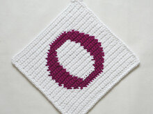 "Letter ""O"" Potholder Crochet Pattern - for beginners"