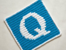 "Letter ""Q"" Potholder Crochet Pattern - for beginners"