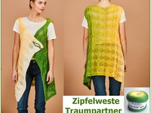 "Zipfelweste ""Traumpartner"" aus BOBBEL-COTTON von Woolly Hugs stricken"