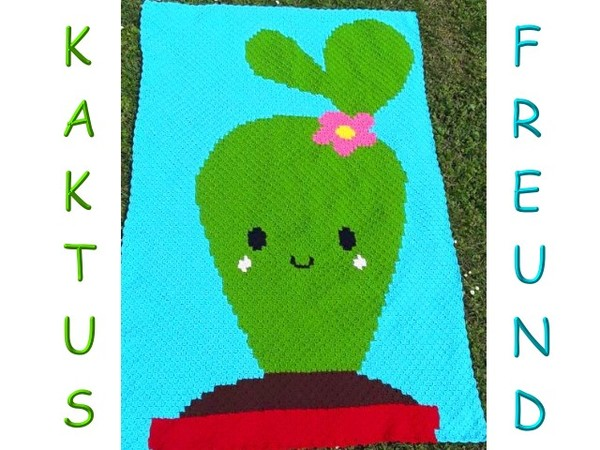 Häkelanleitung Decke Kaktus Freund Häkeldecke Ecke Zu Ecke C2c