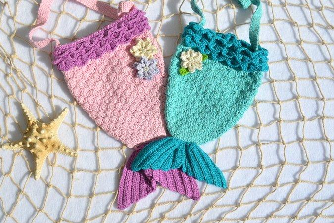 Meerjungfrauen Tasche Häkeln Handtasche