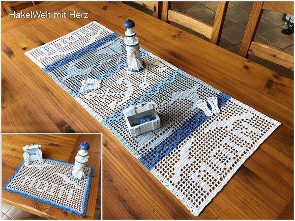 Tischläufer Häkeln Maritimes Motiv Häkeln