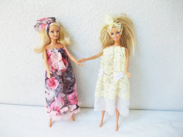Nähanleitung Puppenkleider, 2 Varianten, auch ohne Nähmaschine