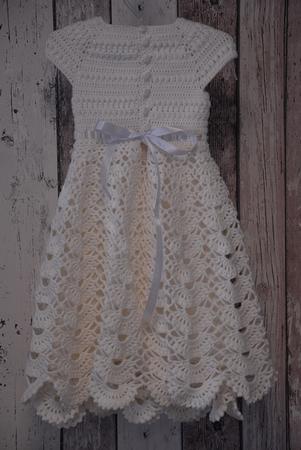 Taufkleid Häkeln Babykleid Festkleid