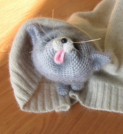 020 Crochet Pattern - 2 Kittens toy with wire frame - Amigurumi PDF file by Pertseva CP