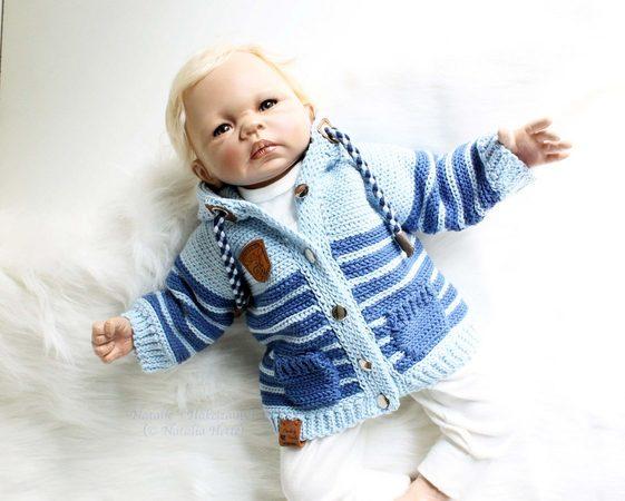 Babyjacke häkeln /// Kinderjacke häkeln