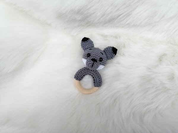 2in1 Wolf and Fox Rattle - Crochet Pattern