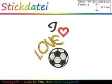 "Stickdatei ""I LOVE Fussball"""