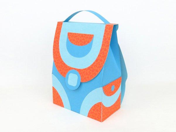 Schulranzen mit Seitentaschen – Bastelvorlagen und Anleitung