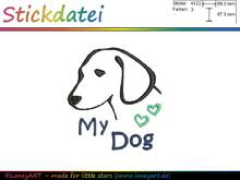 "Stickdatei ""My Dog - Hund"""