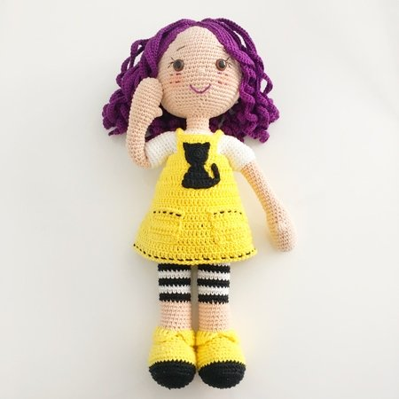 Baby TV - Little Lola Inspired Doll Crochet pattern by Teenie Crochets | 450x450