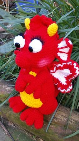 crochet pattern beautiful Dragon PDF english-deutsch ternura amigurumi