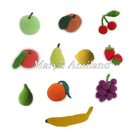 Basket of Fruit E-Book - Amigurumi Crochet Pattern - Digital Download