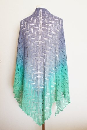 Zackenzauber - Lace shawl - easy to knit