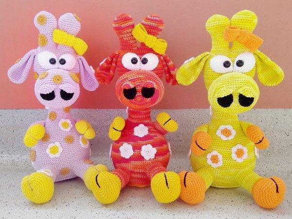 Giraffe Gina Haakpatroon Van Dianas Kleiner Häkelshop