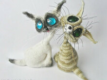 010 Crochet Pattern - Cat Siam toy with wire frame - Amigurumi PDF file by Pertseva CP