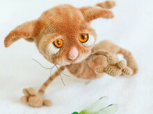 129 Crochet Pattern - Dobby the sad cat - Amigurumi soft toy PDF file by Pertseva CP