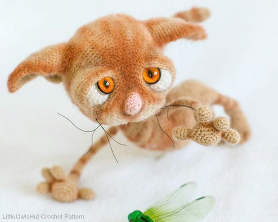 Guv the Kitten - pdf crochet toy pattern - siamese cat amigurumi ... | 450x563