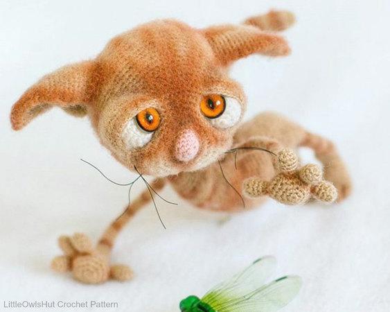 129 Crochet Pattern Dobby The Sad Cat Amigurumi Soft Toy Pdf