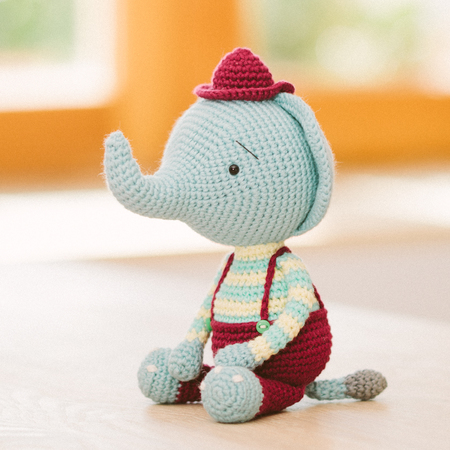Esther the Elephant Free Amigurumi Pattern | Jess Huff | 450x450