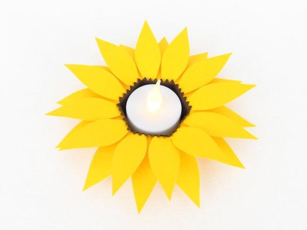 Sonnenblume Basteln Aus Papier Vorlage Zum 2