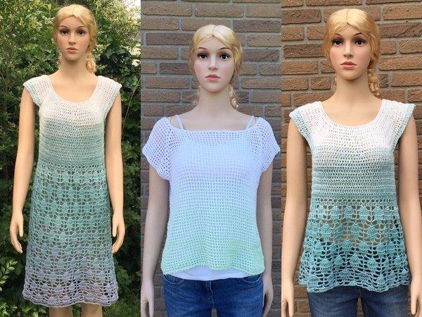Sparset häkeln / Netzshirt / Tunika / Kleid