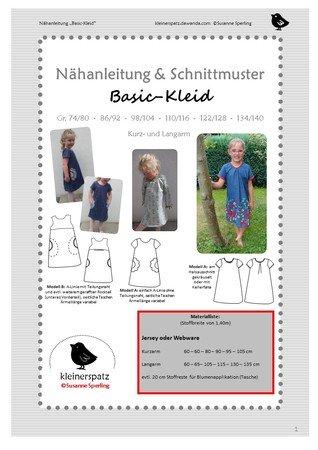 028b6514246be4 Nähanleitung und Schnittmuster Kleid