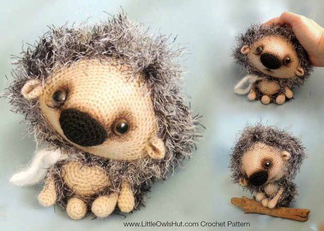 098 Crochet Pattern - Hedgehog Kuka - Amigurumi PDF file by Pertseva CP