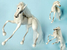 043 Crochet Pattern - Horse White Dream with wire frame - Amigurumi PDF file by Pertseva CP
