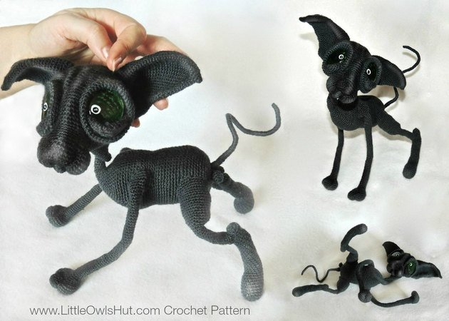 095 Crochet Pattern - Cat Sphynx Findus with wire frame - Amigurumi PDF file by Pertseva CP