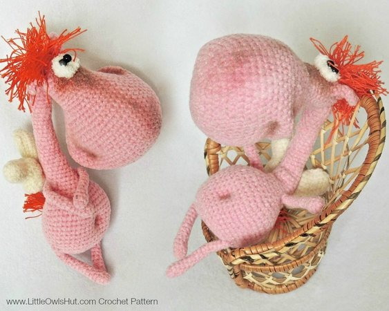 White Horse Handmade Amigurumi Stuffed Toy Knit Crochet Doll VAC ... | 450x563