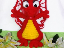 crochet pattern of Dragon 26cm!!! PDF english- deutsch by ternura amigurumi