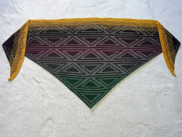 Shawl Triangulum Crochet Pattern