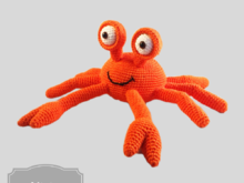 Crab crochet pattern in Englisch US terms