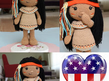 Pattern Venona - Native American Girl
