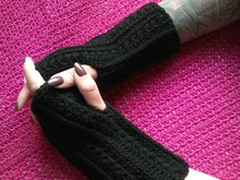 wristwarmer / fingerless mitts