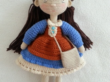 Doll girl with outfit crochet pattern