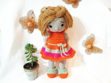 Crochet pattern of doll Sarah + dress PDF english-deutsch-dutch ternura amigurumi